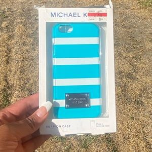 Michael Kors Blue and white i phone case , NWT